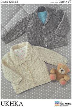 UKHKA - UKHKA 59 - Cardigans in Double Knitting (birth - age 7)