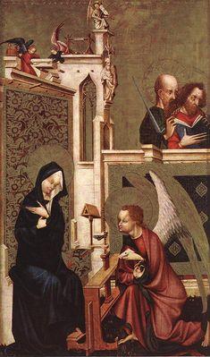 MASTER of Heiligenkreuz Annunciation c. 1410 Wood, 72 x 43,5 cm Kunsthistorisches Museum, Vienna