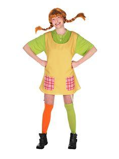 Dit Pippi Langkous™ kostuum voor vrouwen zal leuk zijn als carnavalskleding om de oude televisieserie te laten herleven! - Nu verkrijgbaar op Vegaoo.nl