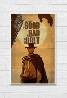 The Good the Bad and the Ugly Movie Poster Print 11X17 by sanasini