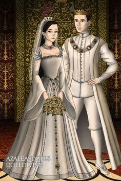 The Wedding Day of Henry VIII and Anne Boleyn ~ by QueenAnneBoleyn ~ created using the Tudors doll maker   DollDivine.com