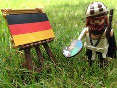 Little Dürer paints today just Black-Red-Gold! #meandmyduerer #WM2014