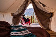 Luxury Canvas Tent Rentals for an Incredible Alaska Camping Experience on the Matanuska Glacier Used Camping Gear, Camping World, Go Camping, Camping Photo, Luxury Tents, Luxury Camping, Asheville Glamping, Alaska Camping, Sequoia National Park Camping