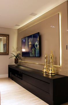 Best home theater planejado sala laca 15 ideas Living Room Tv, Living Room Tv Unit Designs, Living Room Designs, Tv Wall Design, Home Decor, House Interior, Wall Design, Room Design, Room Decor