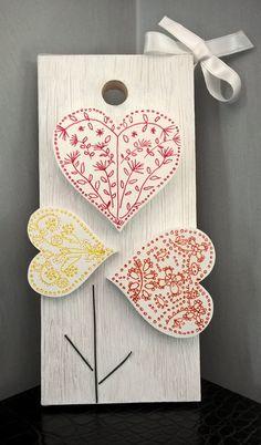 Quadretto pannello decorativo Flowers Love di Manoico su Etsy