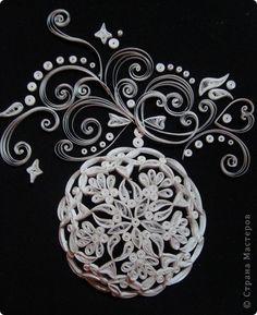 Картина, панно, рисунок Квиллинг: И от меня небольшая порция новогодних радостей!!! Бумага. Фото 5