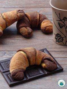 Croissant bicolore senza sfogliatura