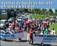 Jornal dos Agentes de Saúde do Brasil: Agentes de saúde e endemias decidem manter greve e fazem protesto em Salvador