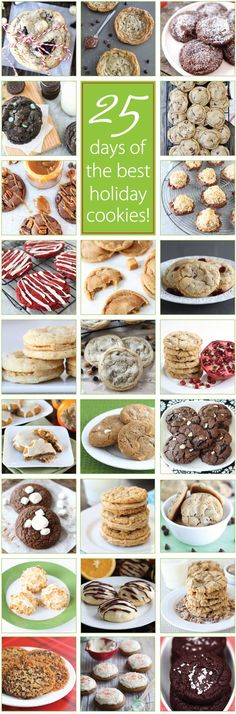 25 Days of the BEST Holiday Cookie Recipes on  You will want to make ALL of these cookies!