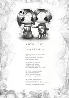 Ebony and Eli Gothling's poem. Every Frightlings character comes with it's own spooky poem.