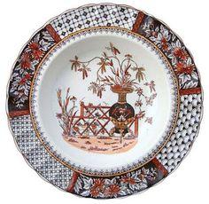 "Dishy News - A Transferware Blog. W.T.Copeland (& Sons) 1847-1970 pattern ""2/2147"" or Chrysanthemum pattern plate, ca. 1884"