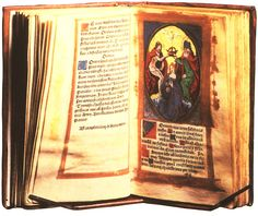 Anne Boleyn's Book of Hours which were personal prayer books that were popular in England from the 13th century until the Reformation and earned the name 'Book of Hours' from the short service to the Virgin Mary which were read at eight fixed hours during the day.