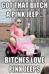 So wrong its funny... But I do love a pink jeep