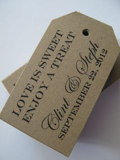 Custom Kraft Brown Tags for Labeling Gifts, Wedding Favors, Paper Crafts or Price Tags -  Set of 100 on Etsy, $20.00