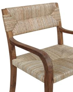 Add a little character to your dining room with our Ike Dining Chairs. Made from teak and wrapped in rattan, these chairs are give your space a natural and beachy vibe. Outdoor Chairs, Outdoor Furniture, Outdoor Decor, Sofa Chair, Armchair, Black Dining Chairs, Studio Mcgee, Take A Seat, Your Space