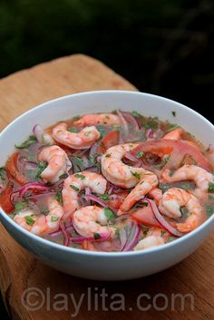 Shrimp ceviche or Ceviche de Camaron | Latin Recipes