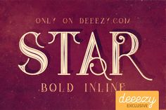 Star Full Inline Font – Deeezy – Freebies with Extended License