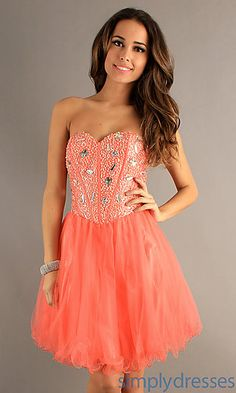 Short Strapless Sweetheart Dress at SimplyDresses.com