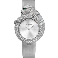 Féline de Cartier watch Quartz, white gold, diamonds