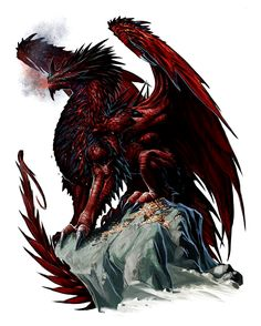 Mythic Red Dragon - Pathfinder PFRPG DND D&D d20 fantasy