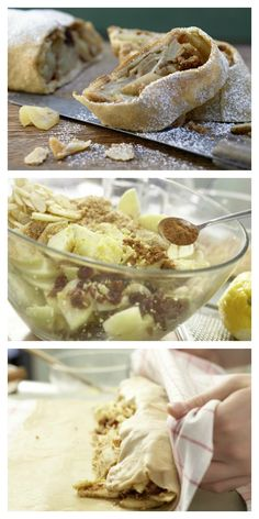 Österreichs Traditionsgebäck – stets ein Genuss, der auf der Zunge zergeht: Vollkorn-Apfelstrudel mit Cranberrys | http://eatsmarter.de/rezepte/vollkorn-apfelstrudel