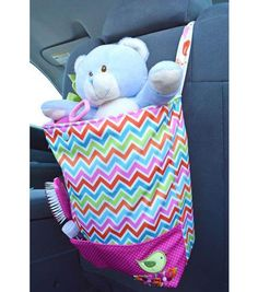 Keep toys handy in the car with this car tote from @Babyville Boutique! It's sew adorable!