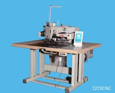 Heavy duty industrial sewing machines: 7273CNC Electronic lockstitch programmable pattern...