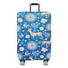 Luggage Cover Tree Peacock Feathers Tribal Nature Protective Travel Trunk Case Elastic Luggage Suitcase Protector Cover