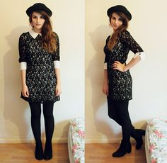 All Over Lace Dress with Shirt Collar
