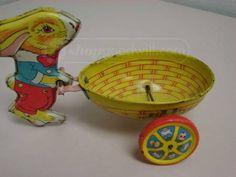 vintage J. Chein metal Easter toy