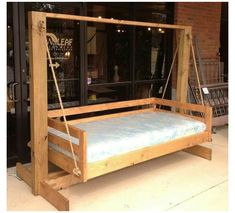 Porch Swing Frame, Porch Swing With Stand, Pallet Swing Beds, Diy Swing, Porch Swings, Outdoor Bed Swings, Indoor Swing, Outdoor Camping, Porch Bed