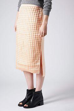 Topshop Kyoto Pleat Pencil Skirt, $84, available at Topshop.