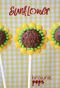Sunflower cake pops. #sunflower #cakepops #birthday #party #ideas #inspiration #theme