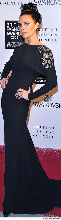 Wearing Victoria Beckham Spring 2010 Collection Gown - 2009 British Fashion Awards - 12/09/2009