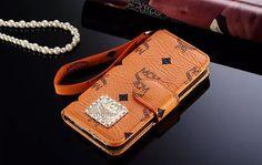 Brand MCM Galaxy S7 Wallet Cover Flip Orange