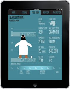 Antarctic Monitoring iPad App (University Project) by Nick Roberts, via Behance