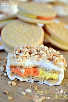 Lemon Tree Dwelling: Sweet & Salty Candy Corn Oreos