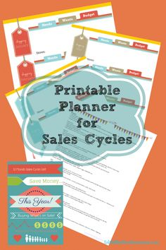 Save tons of Money this year!  Free 4 page Printable Planner for Grocery Store and Retail Sales Cycles! Be good to your budget!