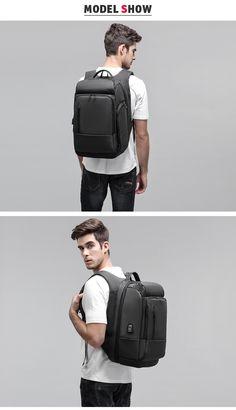 Waterproof Travel Backpack, 17 inch Laptop Backpack For Men Water Repellent Functional Rucksack with USB Charging Port Travel Backpacks.