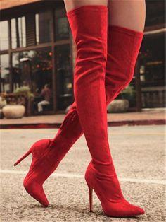 ff57a9d4 DoraTasia a estrenar zapatos de mujer botas de talla grande 31 43 otoño  sobre la rodilla · Botas De Tacón AltoBotas ...
