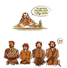The Musketeers - Because Treville is so done with their sh!t (fanart)