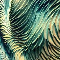 The motion and depth of our Rain Feather carved tiles.  What do you think?  #natalieblakestudios #rainfeather
