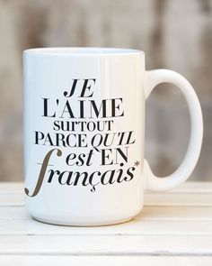 """""""Mostly Because French"""" Tote Verb Games, Learn To Speak French, French Expressions, French Classroom, Diy Mugs, The Perfect Girl, French Lessons, Teaching French, Reading Strategies"""