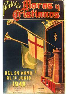 Cartel Moros y Critianos Elda año 1948