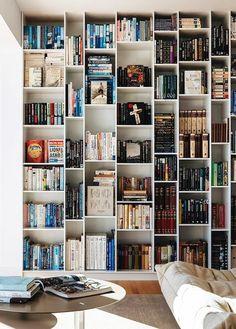 built-in bookshelves inspiration. / sfgirlbybay