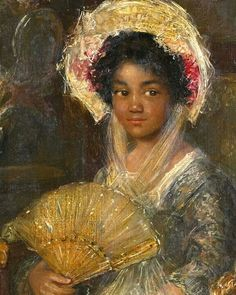 Simon Willem Maris Portrait of a Young Black Woman Netherlands 44 x 29 cm. Rijksmuseum, Amsterdam The Image of the Black in Western Art Research Project and Photo Archive, W. Du Bois Institute for African and African American. African History, African Art, Black History, Art History, European History, Idda Van Munster, Arte Black, Black Women Art, Black Girls