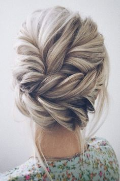 twisted wedding updo hairstyle #weddinghairstyles