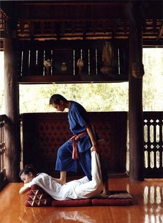 Traditional Thai massage.  Watch that first step...it's a doozy