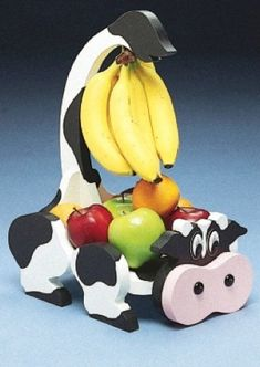 19-W1355 - Fruit Basket Banana Hanger, Dairy Cow Woodworking Plan