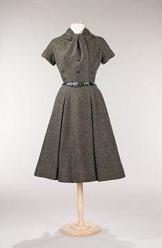 1955 Dior | vintage 1950s dress | 50s grey dress